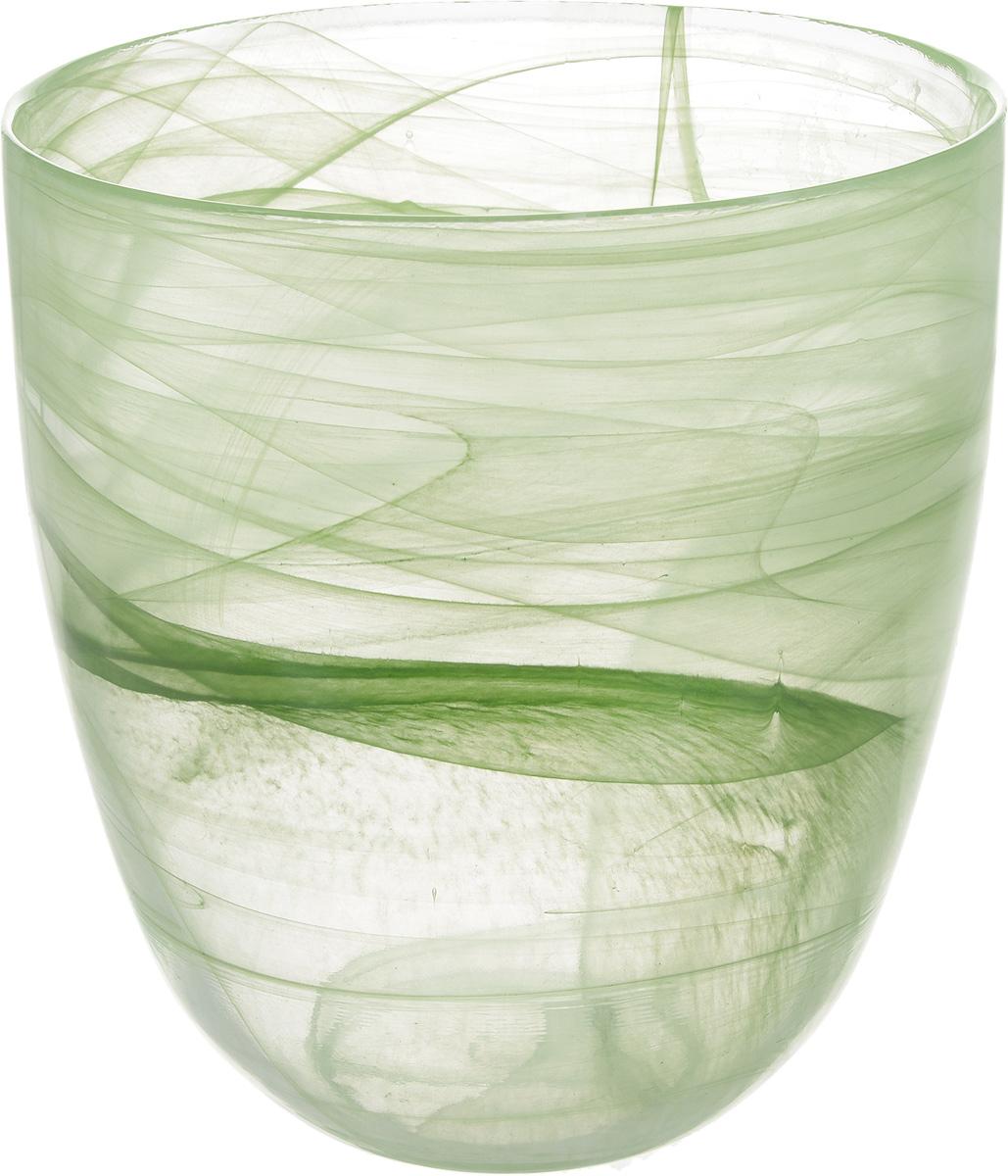 Кашпо NiNaGlass, цвет: прозрачный, зеленый, высота 18 см93-027 ЗЕЛКашпо NiNaGlass имеет уникальную форму, сочетающуюся как с классическим, так и с современным дизайном интерьера. Оно изготовлено из высококачественного стекла и предназначено для выращивания растений, цветов и трав в домашних условиях. Кашпо NiNaGlass порадует вас функциональностью, а благодаря лаконичному дизайну впишется в любой интерьер помещения. Диаметр кашпо (по верхнему краю): 16 см.Высота кашпо: 18 см.