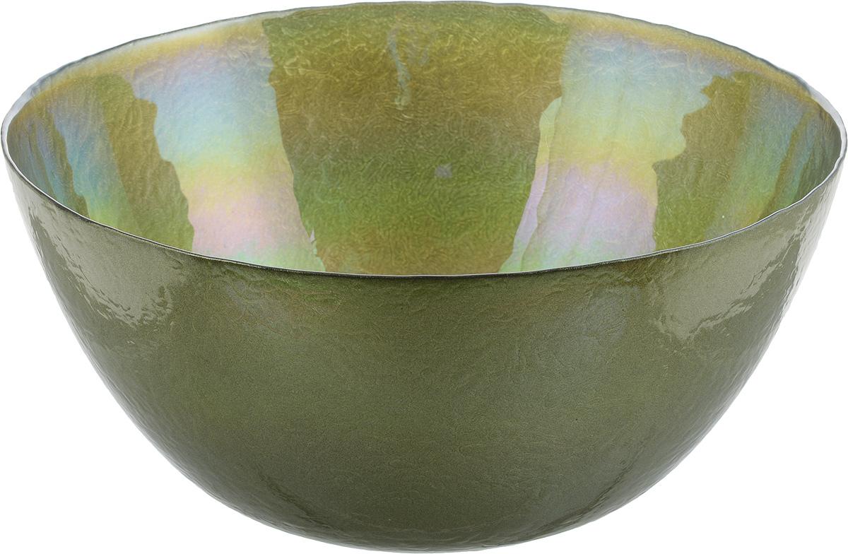 Салатник NiNaGlass Богемия, цвет: оливковый, диаметр 28,5 см83-055-Ф290 ИТОМСалатник NiNaGlass Богемия выполнен из высококачественного стекла. Он прекрасно подойдет для подачи различных блюд: закусок, салатов или фруктов. Изделие отлично впишется в интерьер вашей кухни и станет достойным дополнением к кухонному инвентарю. Не рекомендуется использовать в микроволновой печи и мыть в посудомоечной машине.Диаметр салатника: 28,5 см.Высота стенки: 13,4 см.