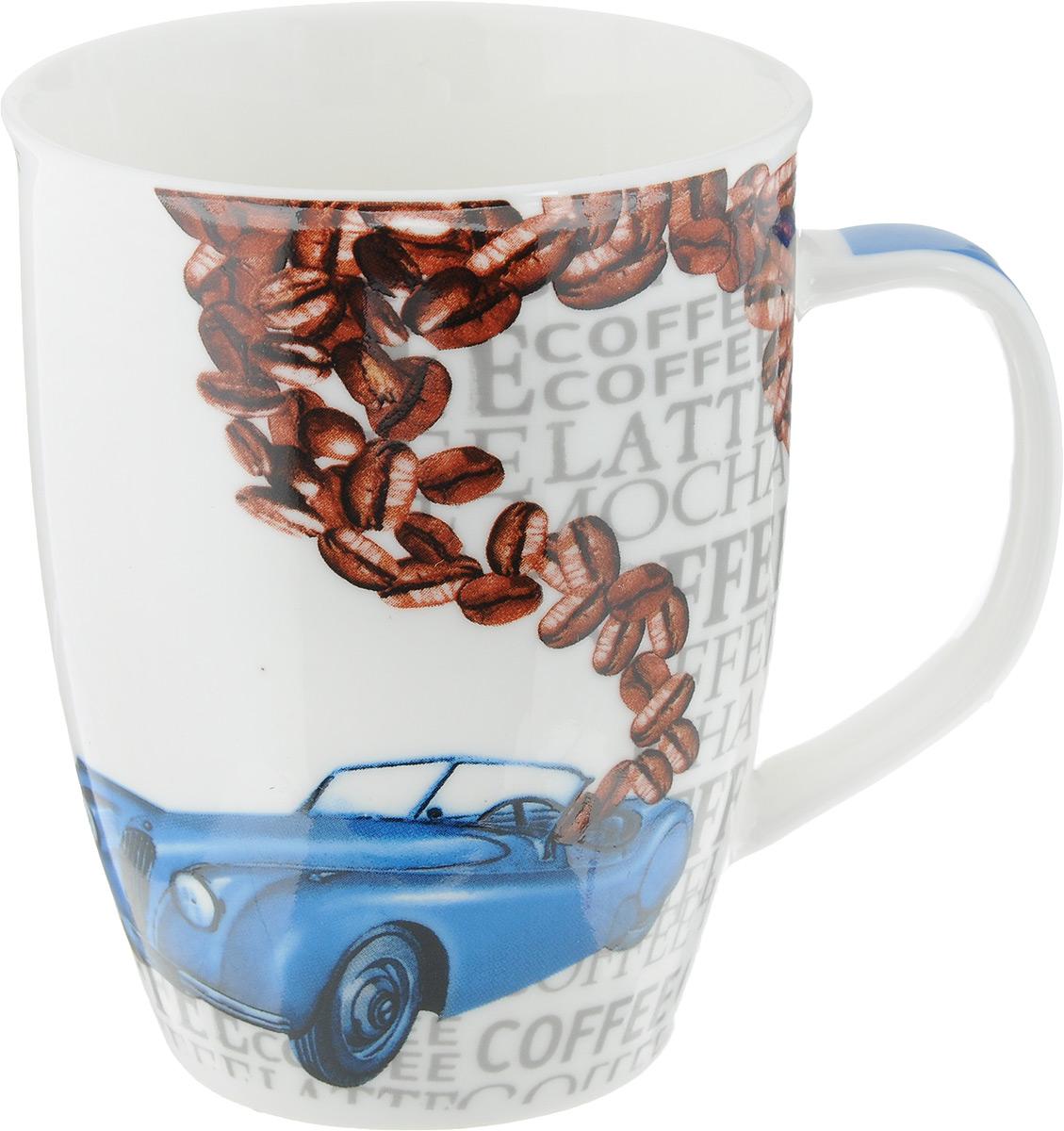 """Кружка Loraine """"Автомобиль"""" изготовлена из прочного качественного костяного фарфора. Изделие оформлено надписями и красочным рисунком. Благодаря своим термостатическим свойствам, изделие отлично сохраняет температуру содержимого - морозной зимой кружка будет согревать вас горячим чаем, а знойным летом, напротив, радовать прохладными напитками. Такой аксессуар создаст атмосферу тепла и уюта, настроит на позитивный лад и подарит хорошее настроение с самого утра. Это оригинальное изделие идеально подойдет в подарок близкому человеку. Диаметр (по верхнему краю): 8,2 см. Высота кружки: 10,5 см."""