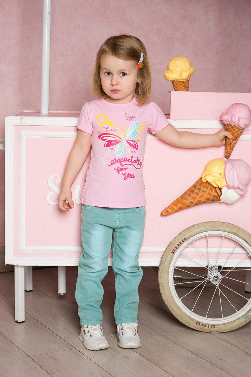 Футболка для девочки Sweet Berry Baby, цвет: светло-розовый. 712011. Размер 80 комплект для девочки bibelo baby футболка бриджи цвет малиновый белый светло зеленый b800 6 размер 74