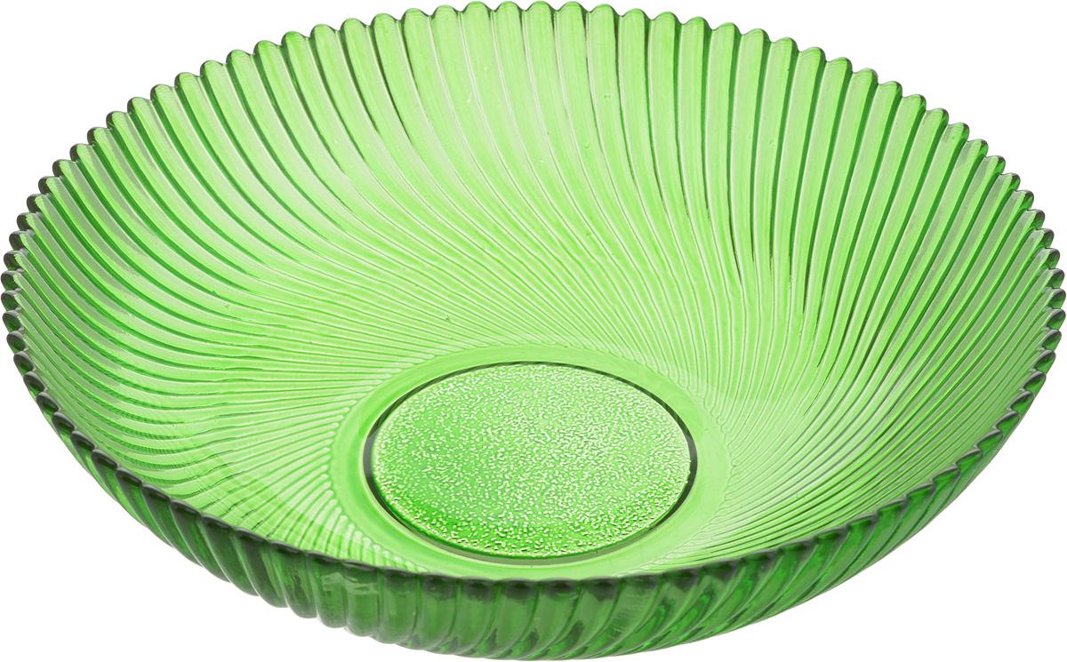 Тарелка NiNaGlass Альтера, цвет: зеленый, 20 х 20 х 5 см83-068-ф200/h50 ЗЕЛТарелка NiNaGlass Альтера выполнена из высококачественного стекла и имеет рельефную поверхность. Она прекрасно впишется в интерьер вашей кухни и станет достойным дополнением к кухонному инвентарю.Не рекомендуется использовать в микроволновой печи и мыть в посудомоечной машине.