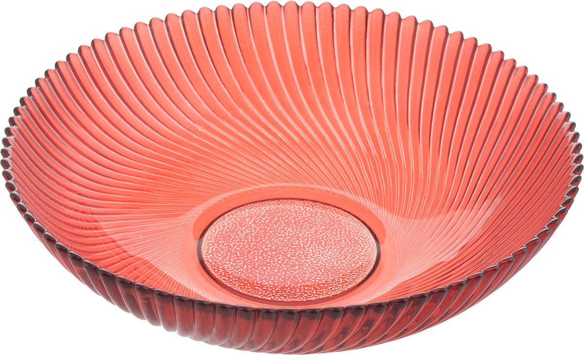 Тарелка NiNaGlass Альтера, цвет: рубиновый, 20 х 20 х 5 см83-068-ф200/h50 РУБТарелка NiNaGlass Альтера выполнена из высококачественного стекла и имеет рельефную поверхность. Она прекрасно впишется в интерьер вашей кухни и станет достойным дополнением к кухонному инвентарю.Не рекомендуется использовать в микроволновой печи и мыть в посудомоечной машине.