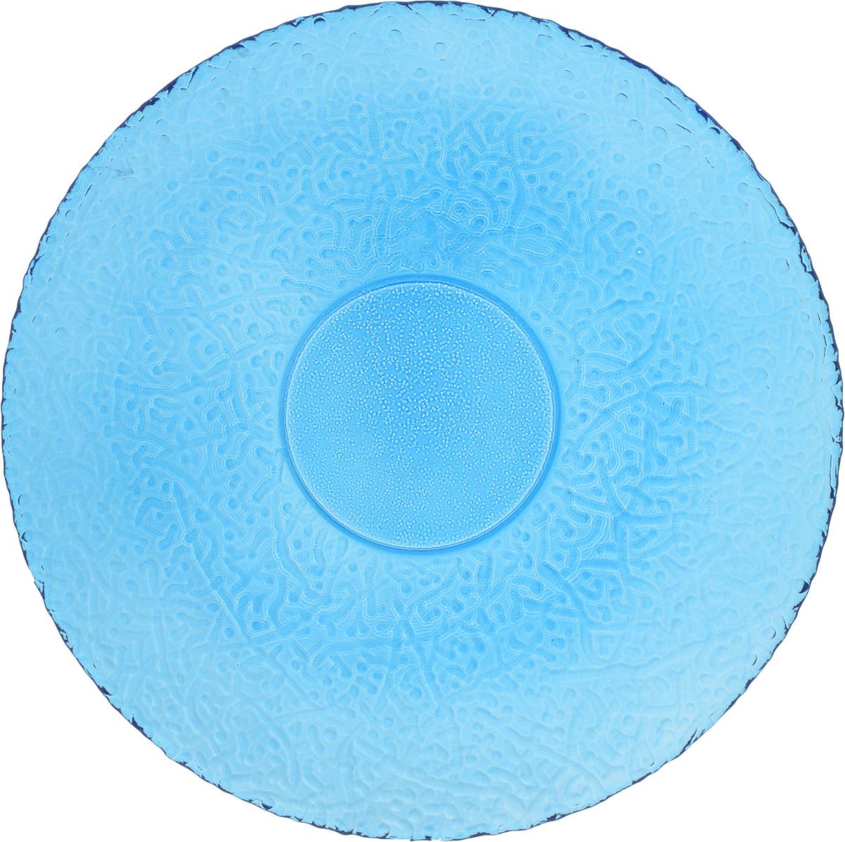 Тарелка NiNaGlass Ажур, цвет: синий, диаметр 26 см бусы из жемчуга ажур нжм 6516