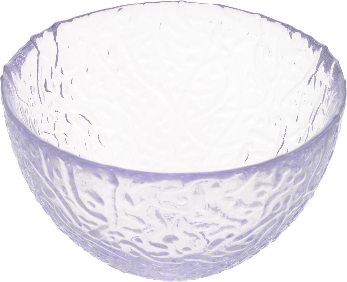 Салатник NiNaGlass Ажур, цвет: лаванда, диаметр 12 см83-040-ф120 ЛАВАНСалатник Ninaglass Ажур выполнен извысококачественного стекла и имеет рельефную поверхность. Он прекрасно впишется в интерьервашей кухни и станет достойным дополнением ккухонному инвентарю. Не рекомендуется использовать вмикроволновой печи и мыть в посудомоечноймашине.
