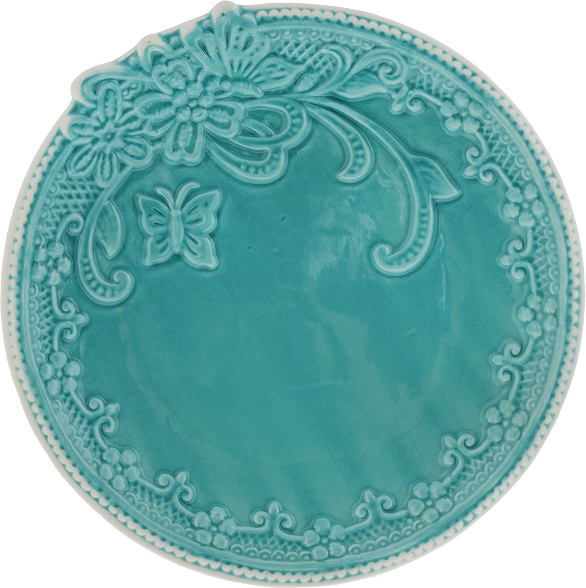 Тарелка Azur, диаметр 21 см216674Тарелка Azur выполнена из высококачественной керамика и имеет рельефную поверхность. Она прекрасно впишется в интерьер вашей кухни и станет достойным дополнением к кухонному инвентарю.Можно мыть в посудомоечной машине и использовать в микроволновой печи.Диаметр тарелки (по верхнему краю): 21 см.Высота: 2,5 см.