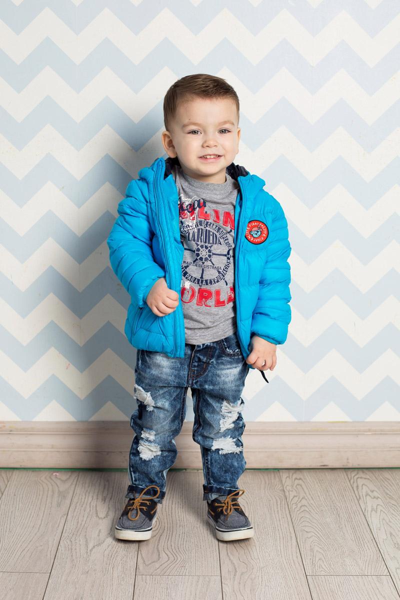 Логслив для мальчика Sweet Berry Baby, цвет: серый меланж. 711065. Размер 86