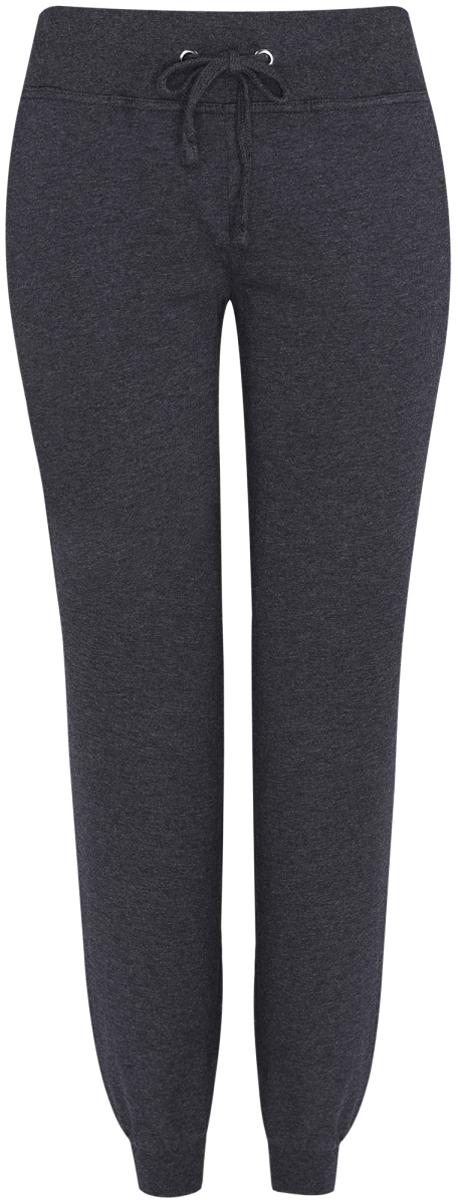Купить Брюки спортивные женские oodji Ultra, цвет: темно-серый меланж. 16700030-5B/46173/2500M. Размер XXS (40)