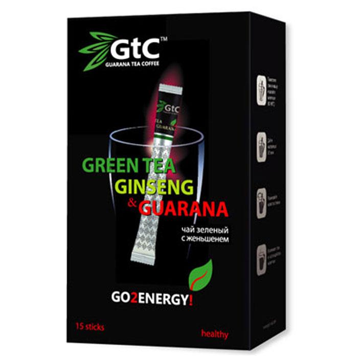 GTC чай зеленый китайский с женьшенем в пакетиках, 15 шт