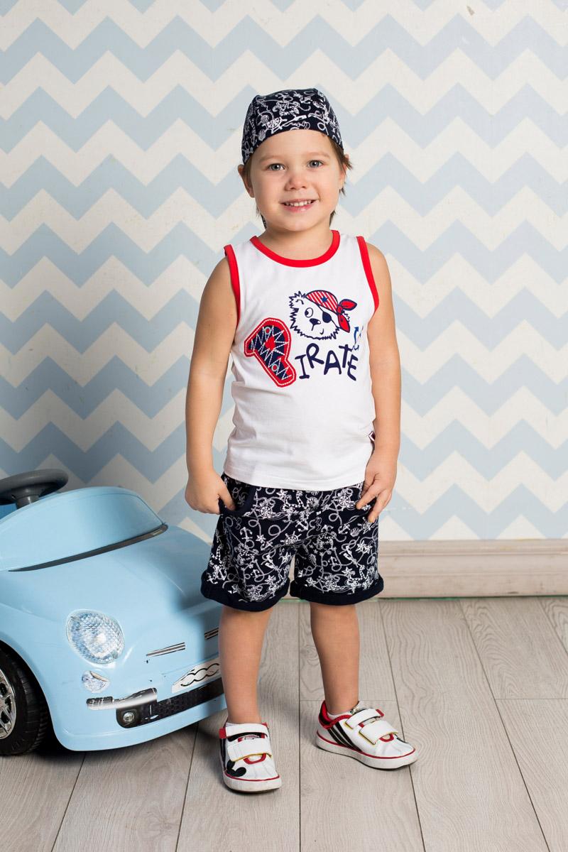 Шорты для мальчика Sweet Berry Baby, цвет: темно-синий. 711076. Размер 80711076Стильные шорты для мальчика Sweet Berry выполнены из мягкого трикотажа с принтом в морском стиле. Модель с отворотами имеет пояс на мягкой резинке, дополнительно регулируемый шнурком. Спереди изделие дополнено двумя втачными карманами.