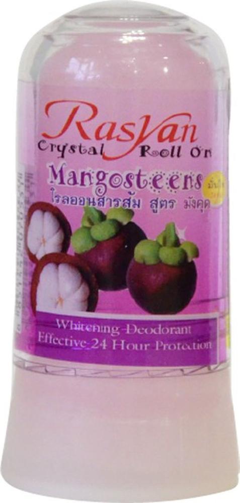 RasYan Дезодорант-кристалл с мангостином, 80 гр. rasyan дезодорант кристалл с имбирем и тамариндом 80 гр