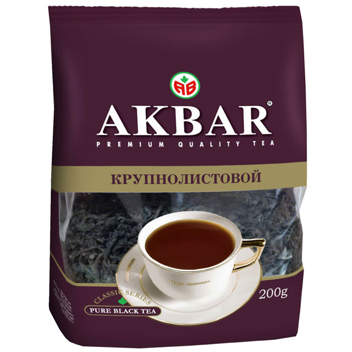 Akbar Классическая серия чай черный крупнолистовой, 200 г1050058Великолепный купаж чая, отличающийся терпким вкусом, насыщенным ароматом и ярким цветом настоя, входит в линейку высококачественных черных чаев, выпускаемых под торговой маркой AKBAR. Благодаря оригинальному рецепту производства и тщательному отбору используемого сырья, при заваривании дает крепкий настой яркого цвета с отлично тонизирующим вкусом и неповторимым насыщенным ароматом.Всё о чае: сорта, факты, советы по выбору и употреблению. Статья OZON Гид