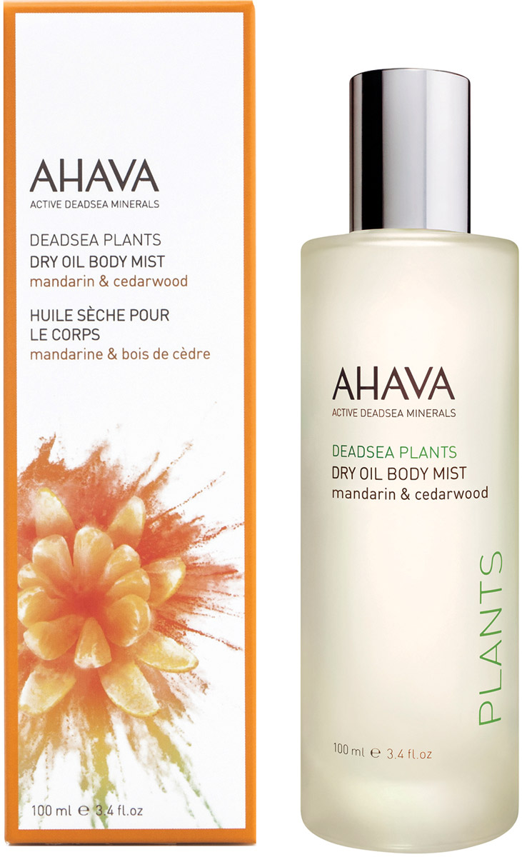 Ahava Deadsea Plants Сухое масло для тела мандарин и кедр 100 мл гель для душа ahava deadsea salt liquid deadsea salt объем 200 мл