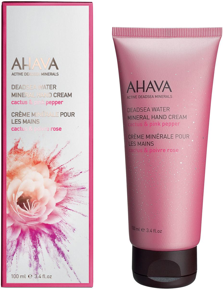 Ahava Deadsea Water М Минеральный крем для рук кактус и розовый перец 100 мл