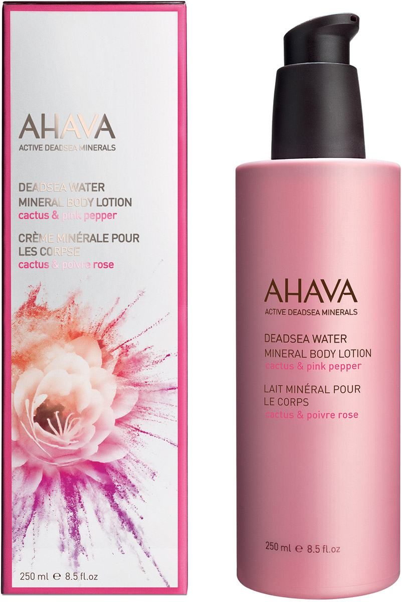 Ahava Deadsea Water М Минеральный крем для тела кактус и розовый перец 250 мл ahava deadsea mud dermud nourishing body cream питательный крем для тела 200 мл