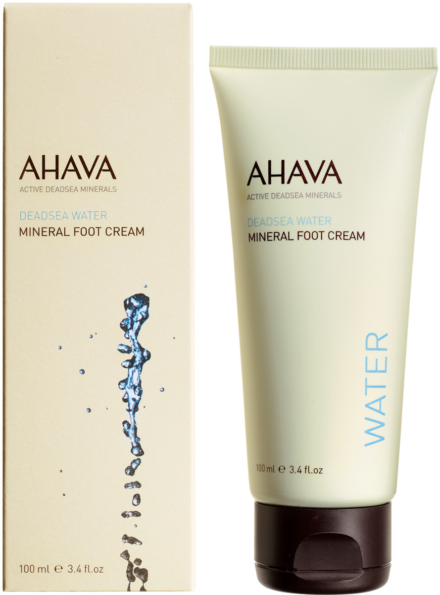 Ahava Deadsea Water М Минеральный крем для ног 100 мл ahava deadsea water mineral hand cream prickly pear & moringa объем 100 мл