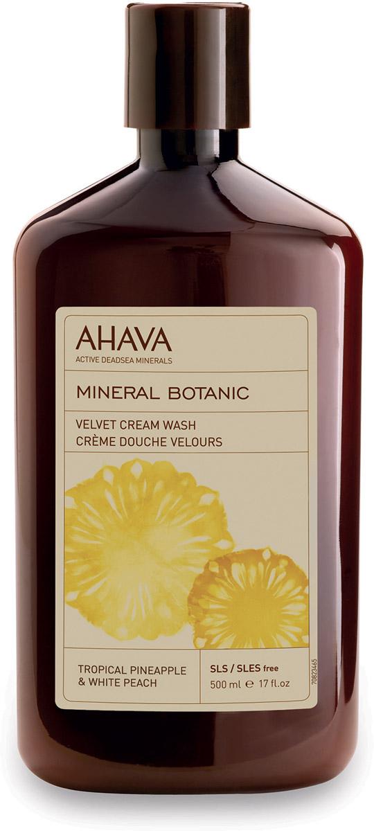 Ahava Mineral Botanic Бархатистое жидкое крем-мыло тропический ананас и белый персик 500 мл крем ahava mud крем насыщенный для ног dermud 100 мл