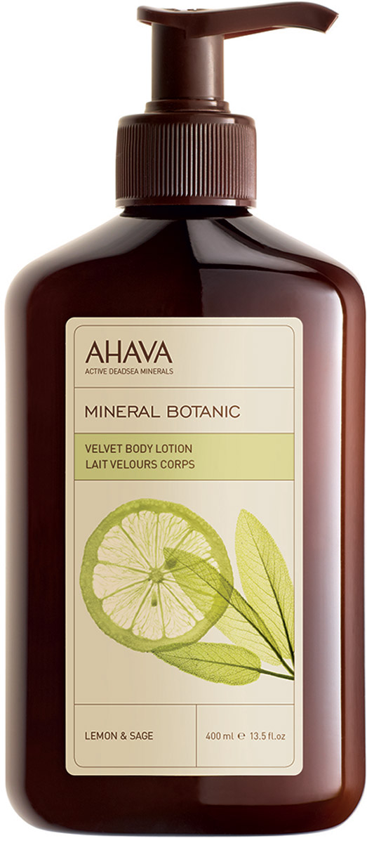 Ahava Mineral Botanic Бархатистый крем для тела лимон и шалфей 400 мл крем для тела ahava deadsea plants caressing body sorbet объем 350 мл