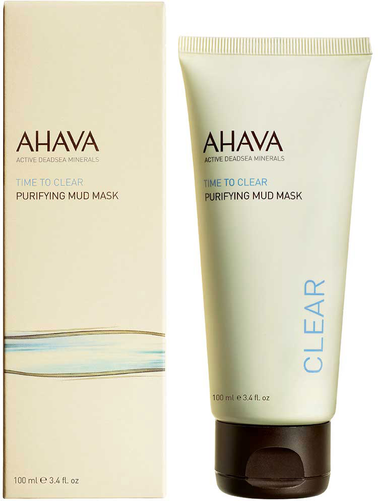 Ahava Time To Clear Очищающая грязевая маска 100мл ahava time to clear purifying mud mask объем 100 мл