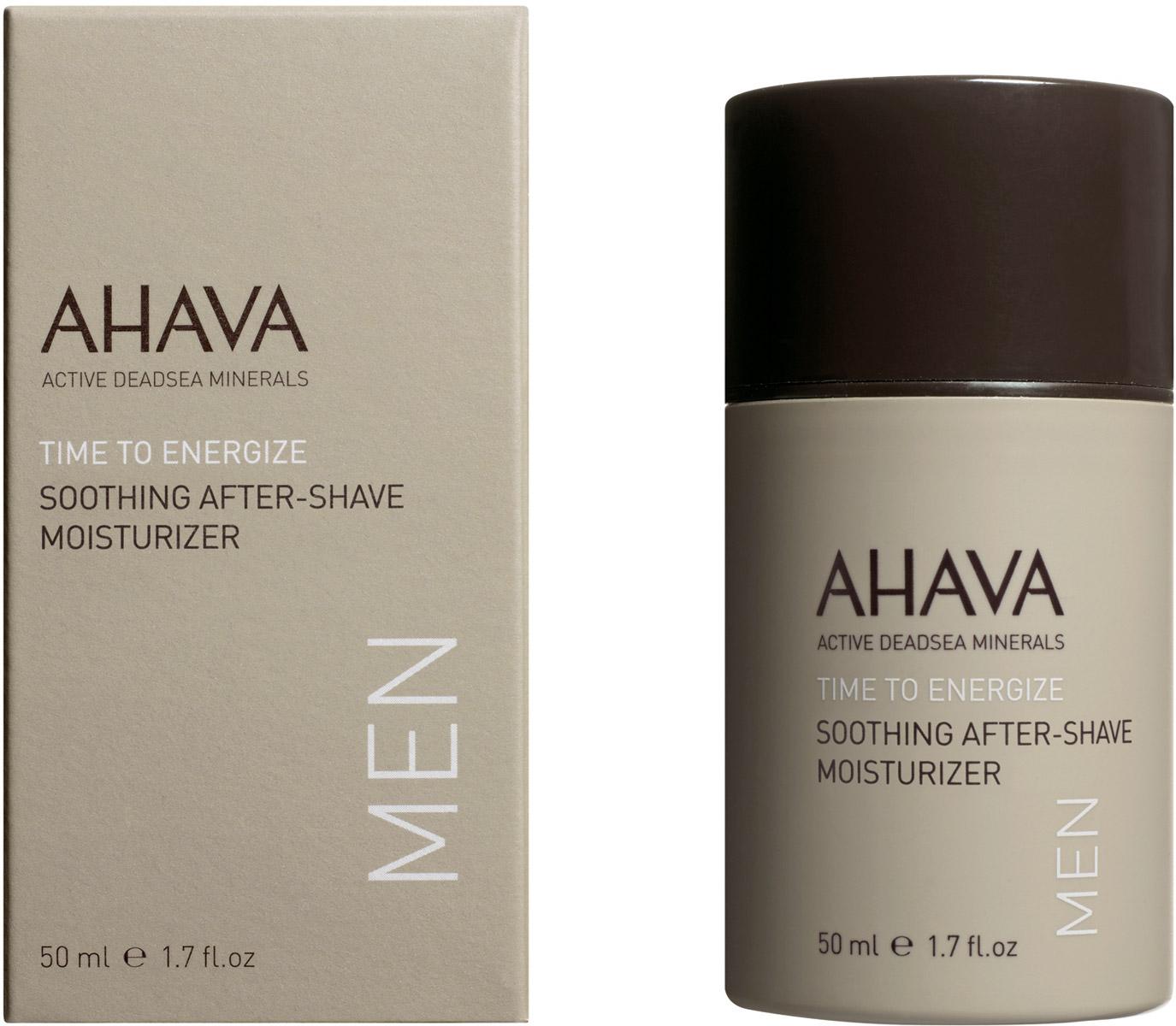 Ahava Time To Energize Успокаивающий увлажняющий крем после бритья 50 мл87115065Освежающий быстро впитывающийся увлажняющий крем, обогащенный минералами Мертвого моря, успокаивает и смягчает кожу после бритья. Серия косметической продукции АХАВА для мужчин призвана улучшить внешний вид кожи и цвет лица, сделать кожу гладкой.