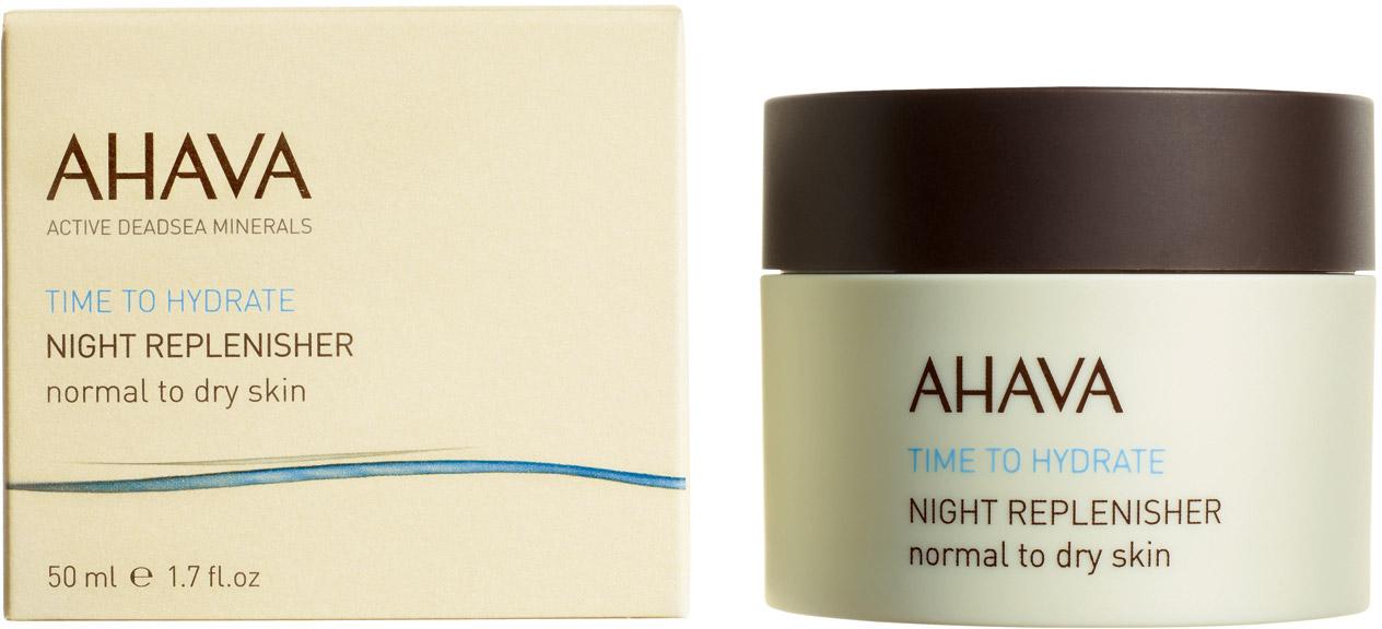 Ahava Time To Hydrate Ночной восстанавливающий крем для нормальной и сухой кожи 50 мл ahava противовозрастной крем для рук с защитой широкого спектра spf15 time to smooth 75 мл