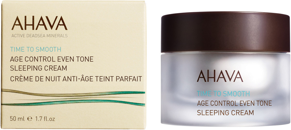 Ahava Time To Smooth Антивозрастной ночной крем для выравнивания цвета кожи 50 мл82116065Крем уменьшает ранние признаки старения кожи. Улучшает текстуру и цвета кожи. Интенсивно питает кожу, усиливая ее кожно-матричную структуру, разглаживает мелкие морщины и устраняет несовершенства, делая кожу более гладкой и яркой.Уважаемые клиенты!Обращаем ваше внимание на возможные изменения в дизайне упаковки. Качественные характеристики товара остаются неизменными. Поставка осуществляется в зависимости от наличия на складе.