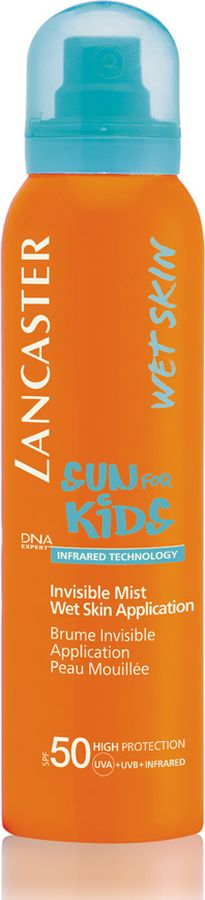 Lancaster Sun Kids Солнцезащитный водостойкий спрей для детей с возможным нанесением на влажную кожу 125 мл40661037000Вуаль , легко впитывается. Это средство не смывается при купании и не стирается о песок: - гипоаллергенно; - протестировано дерматологами и педиатрами; - подходит для чувствительной кожи; - водо и потоустойчивый.
