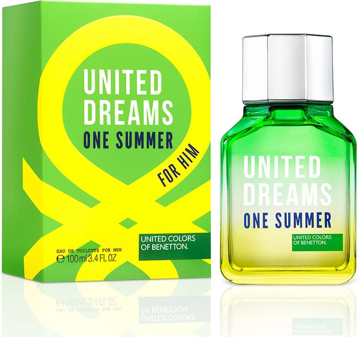 Benetton Ud One Summer Мужская Туалетная вода 100мл65114171Ароматы One Summer, One Love - призыв присоедениться к революции United Dream. Парные ароматы, которые напоминают нам о том, что происхождение не имеет значение - мы разделяем общие мечты.Краткий гид по парфюмерии: виды, ноты, ароматы, советы по выбору. Статья OZON Гид