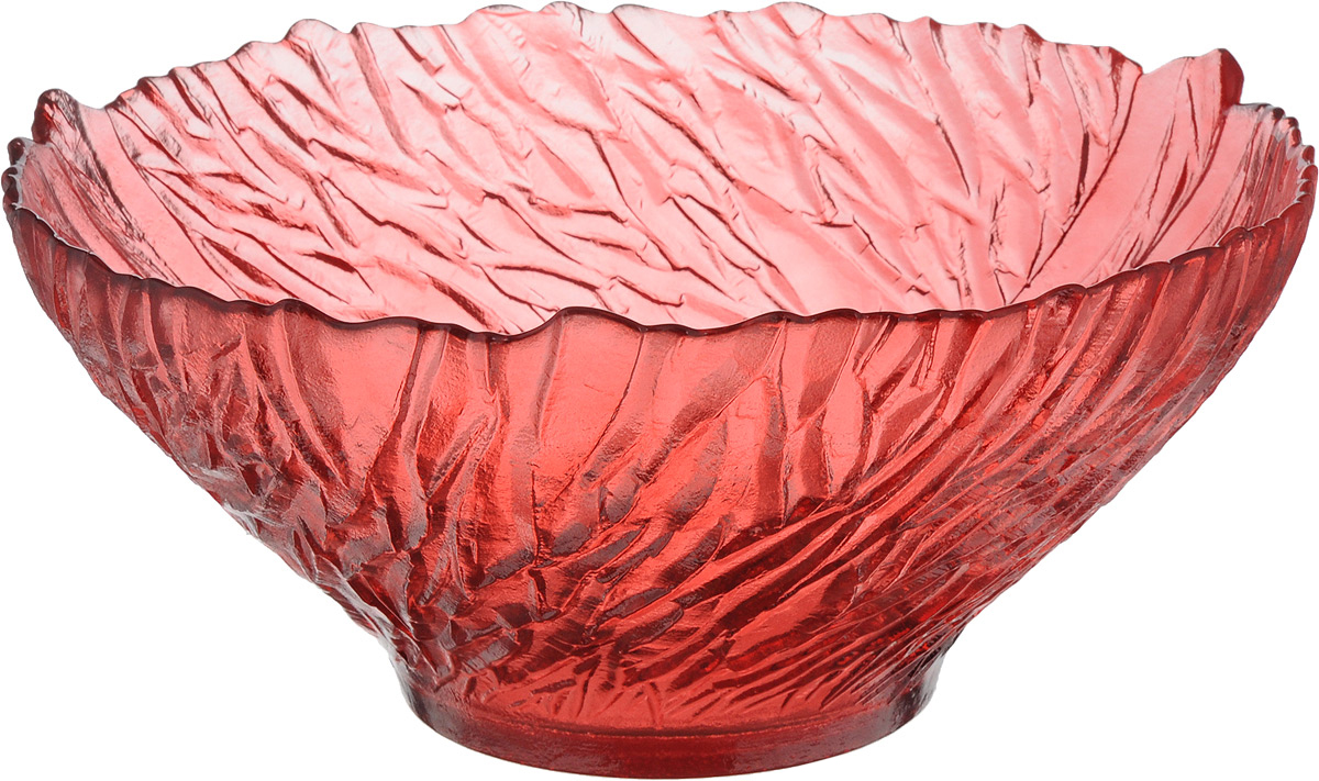 Салатник NiNaGlass Раздолье, цвет: рубиновый, диаметр 25 см83-313 РУБСалатник NiNaGlass Раздолье выполнен извысококачественного стекла и декорированрельефным узором. Он подойдет для сервировкистола как для повседневных, так и дляторжественных случаев.Такой салатник прекрасно впишется в интерьервашей кухни и станет достойным дополнением ккухонному инвентарю. Подчеркнет прекрасныйвкус хозяйки и станет отличным подарком.
