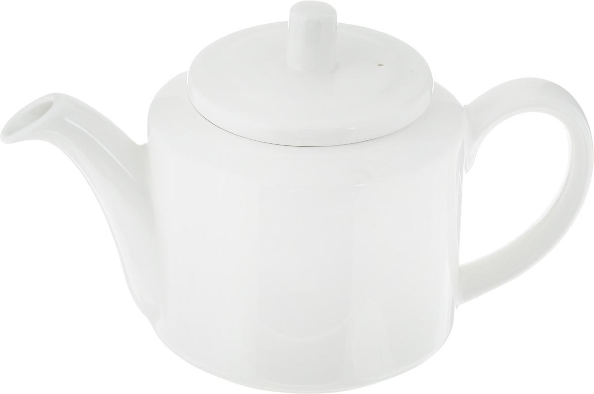 Чайник заварочный Ariane Прайм, 400 млAPRARN62040Заварочный чайник Ariane Прайм изготовлен из высококачественного фарфора. Глазурованное покрытие обеспечивает легкую очистку. Изделие прекрасно подходит для заваривания вкусного и ароматного чая, а также травяных настоев. Ситечко в основании носика препятствует попаданию чаинок в чашку. Оригинальный дизайн сделает чайник настоящим украшением стола. Он удобен в использовании и понравится каждому.Можно мыть в посудомоечной машине и использовать в микроволновой печи. Диаметр чайника (по верхнему краю): 6 см. Высота чайника (без учета крышки): 8 см.