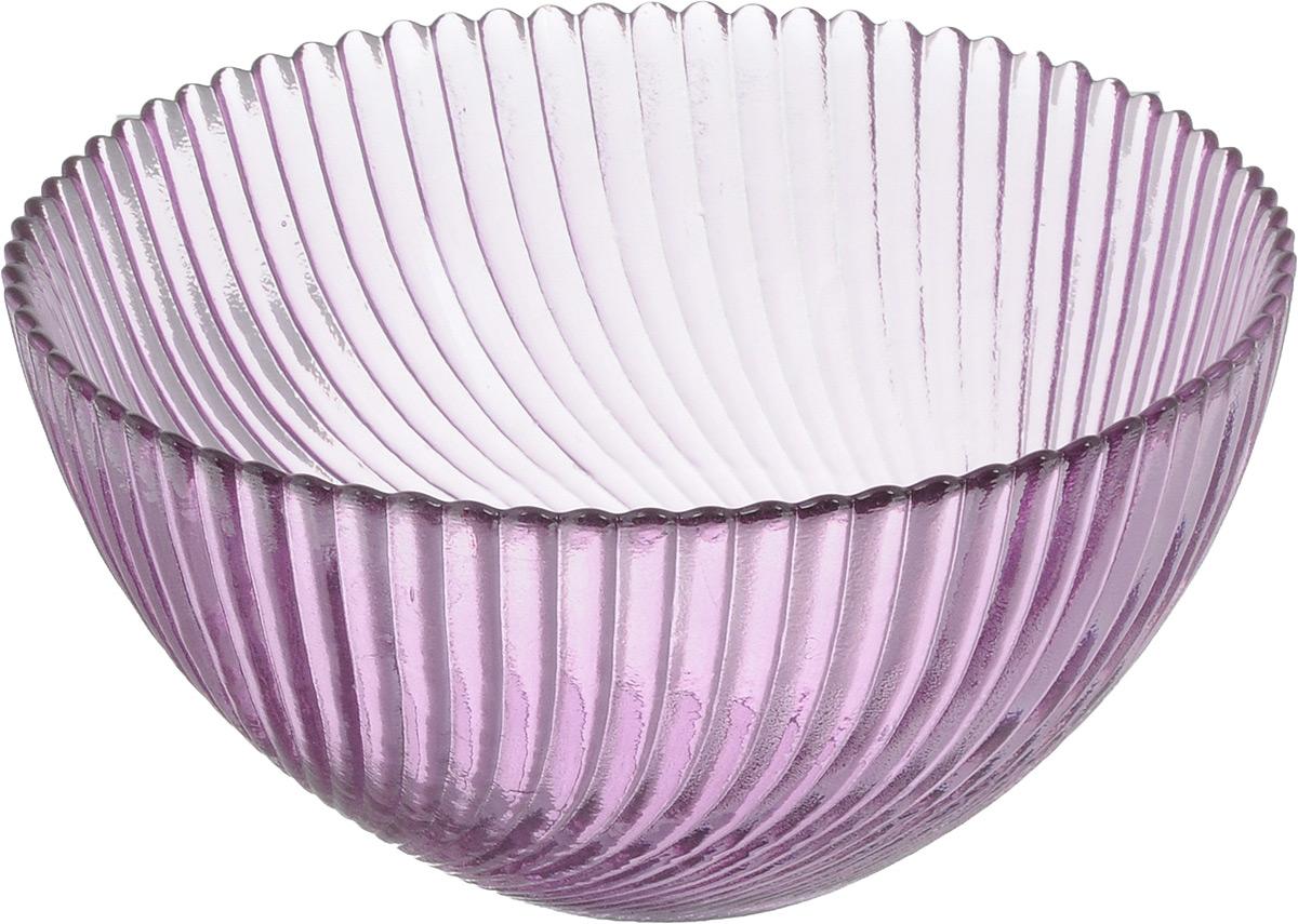Салатник NiNaGlass Альтера, цвет: сиреневый, диаметр 16 см83-037-ф160 СИРСалатник Ninaglass Альтера выполнен извысококачественного стекла и декорированрельефным узором. Он подойдет для сервировкистола как для повседневных, так и дляторжественных случаев.Такой салатник прекрасно впишется в интерьервашей кухни и станет достойным дополнением ккухонному инвентарю. Подчеркнет прекрасныйвкус хозяйки и станет отличным подарком.Не рекомендуется использовать вмикроволновой печи и мыть в посудомоечноймашине.Диаметр салатника (по верхнему краю): 16 см.Высота стенки: 8 см.