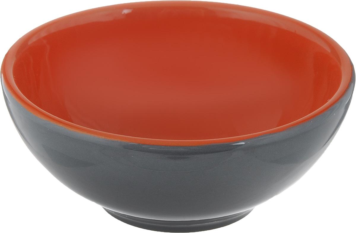 Розетка для варенья Борисовская керамика Радуга, цвет: темно-серый, оранжевый, 200 млРАД00000513_темно-серый, оранжевыйРозетка для варенья Борисовская керамика Радуга изготовлена из высококачественной керамики. Изделие отлично подойдет для подачи на стол меда, варенья, соуса, сметаны и многого другого.Такая розетка украсит ваш праздничный или обеденный стол, а яркое оформление понравится любой хозяйке. Можно использовать в духовке и микроволновой печи. Диаметр (по верхнему краю): 10 см.Высота: 4,5 см.Объем: 200 мл.