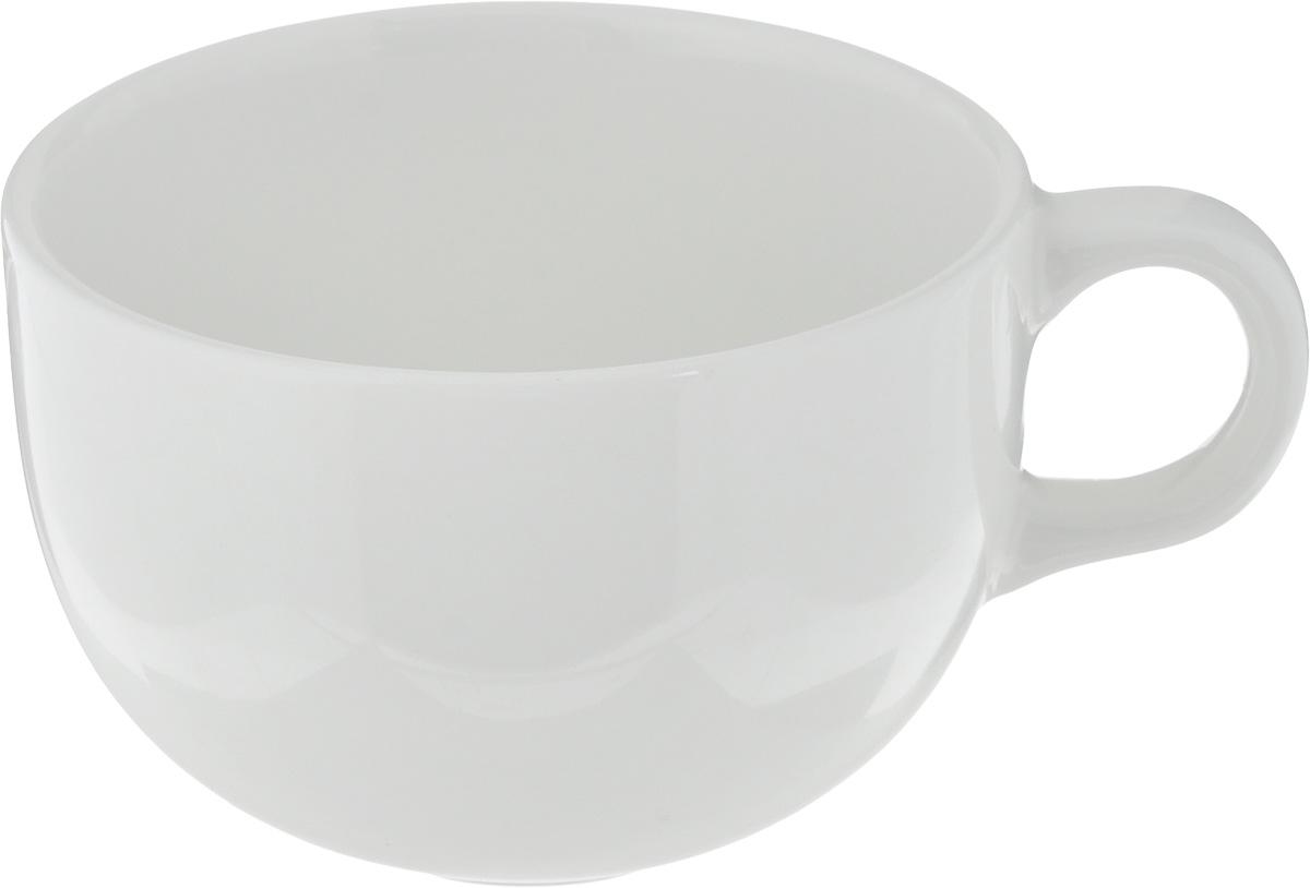 """Чашка Ariane """"Коуп"""" выполнена из высококачественного фарфора с глазурованным покрытием. Изделие оснащено удобной ручкой. Нежнейший дизайн и белоснежность изделия дарят ощущение легкости и безмятежности.Изысканная чашка прекрасно оформит стол к чаепитию и станет его неизменным атрибутом.Можно мыть в посудомоечной машине и использовать в СВЧ.Диаметр чашки (по верхнему краю): 8,7 см.Высота чашки: 6 см."""