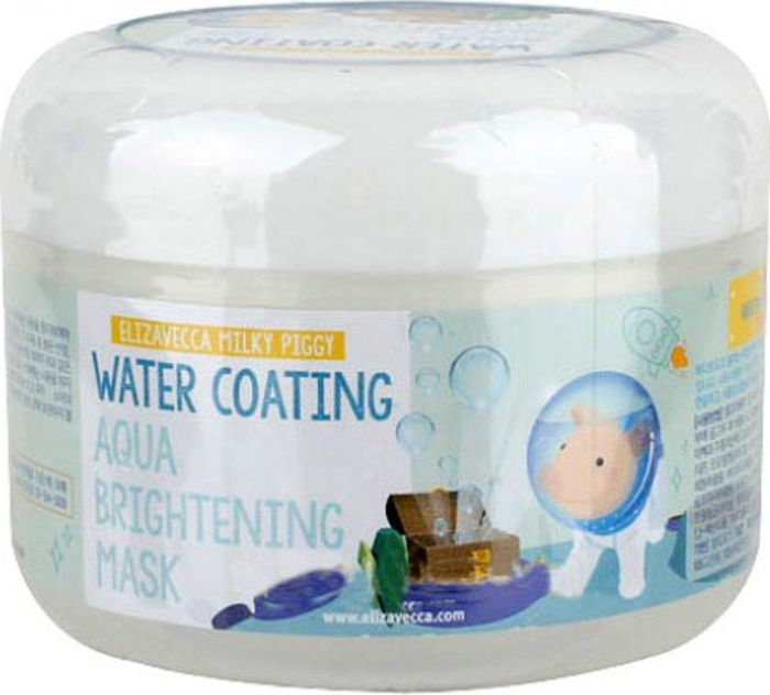 Elizavecca Увлажняющая маска, улучшающая цвет лица Milky Piggy Water Coating Aqua Brightening Mask, 100 мл маска elizavecca water coating aqua brightening mask