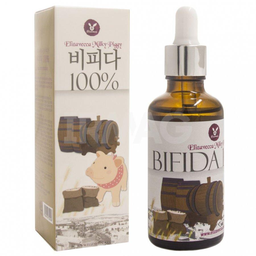 Elizavecca Антивозрастная восстанавливающая сыворотка Bifida 100%, 10 мл7053Антивозрастная сыворотка со 100% экстрактом лизата бифидобактерий Elizavecca Milky Piggy Bifida 100% призвана улучшить состояние зрелой кожи, а также является профилактическим средством против ее преждевременного увядания. Сыворотка стимулирует регенерацию клеток, снимает воспаления и способствует быстрому восстановлению естественной красоты и молодости кожи.