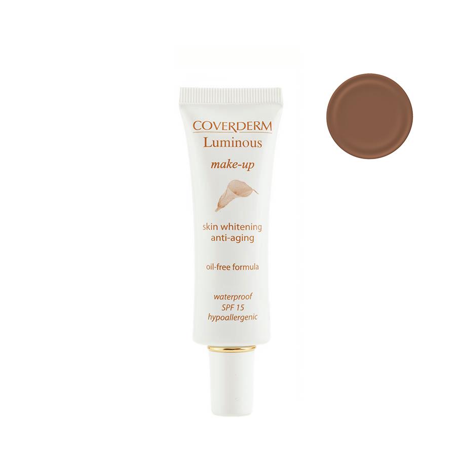 Coverderm Luminous Make-up Антивозрастной тональный крем против пигментации Colorceuticals Тон №6 SPF 15, 30млС1028.62 в 1 – уход и макияж в течение дня! Инновационная формула тонального крема Luminous Make-up содержит Альфа-арбутин и инкапсулированный Витамин С, благодаря этому оказывает отбеливающий и антивозрастной эффект. Идеально маскирует недостатки кожи, усиливает действие отбеливающих косметических средств. Специальные характеристики: водостойкий, гипоаллергенный, идеально держится в течение долгого времени, не содержит масел, обеспечивает UVA/UVB защиту, крем имеет мягкую жидкую текстуру, легко наносится. Подходит для всех типов кожи.