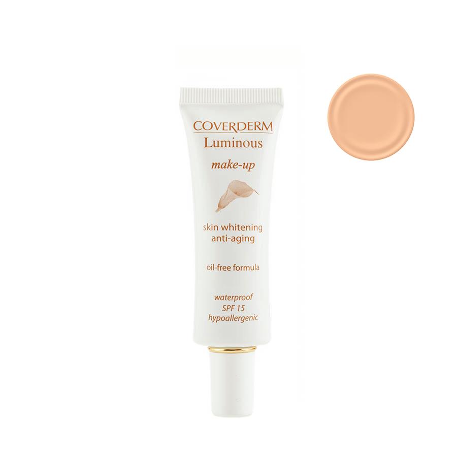 Coverderm Luminous Make-up Антивозрастной тональный крем против пигментации Colorceuticals Тон №13 SPF 15, 30млС1028.132 в 1 – уход и макияж в течение дня! Инновационная формула тонального крема Luminous Make-up содержит Альфа-арбутин и инкапсулированный Витамин С, благодаря этому оказывает отбеливающий и антивозрастной эффект. Идеально маскирует недостатки кожи, усиливает действие отбеливающих косметических средств. Специальные характеристики: водостойкий, гипоаллергенный, идеально держится в течение долгого времени, не содержит масел, обеспечивает UVA/UVB защиту, крем имеет мягкую жидкую текстуру, легко наносится. Подходит для всех типов кожи.