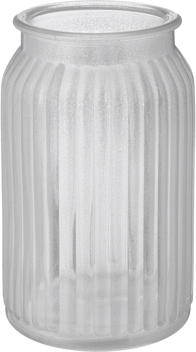 Ваза NiNaGlass Реана, цвет: серебряный, высота 19 см вазы pavone ваза хризантема