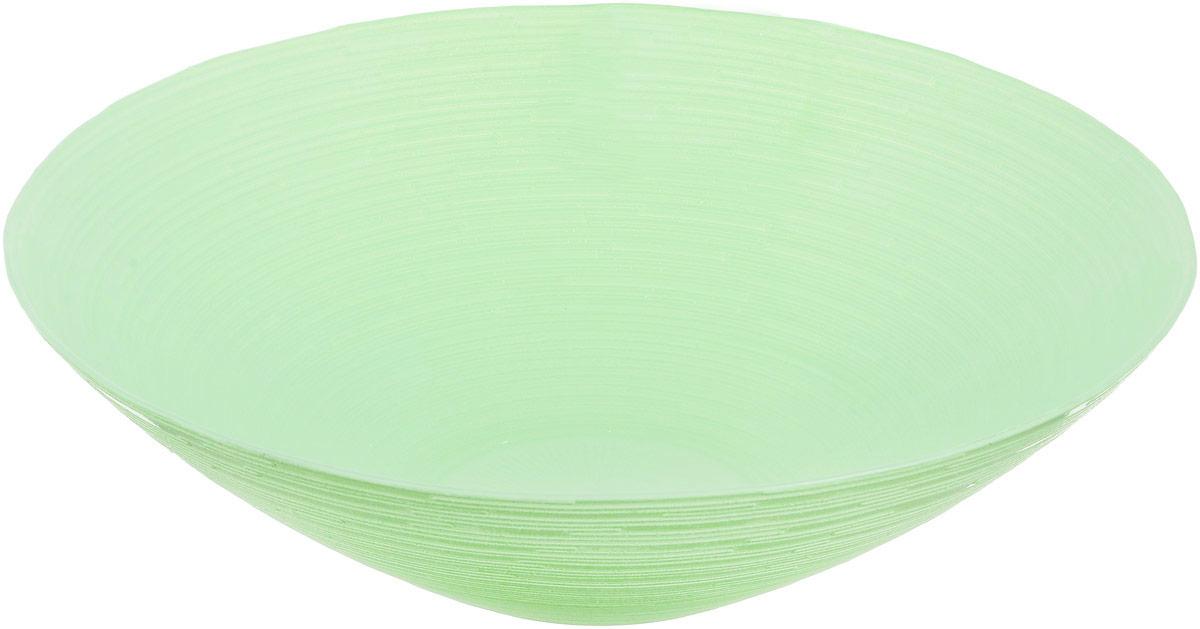 Миска NiNaGlass Риски, цвет: зеленый, диаметр 25,5 см83-012-Ф25 Р-ЗЕЛМиска NiNaGlass Риски выполнена из высококачественного стекла и имеет рельефную поверхность. Она прекрасно впишется в интерьер вашей кухни и станет достойным дополнением к кухонному инвентарю. Не рекомендуется использовать в микроволновой печи и мыть в посудомоечной машине.Диаметр миски: 25,5 см.Высота стенки: 7,5 см.