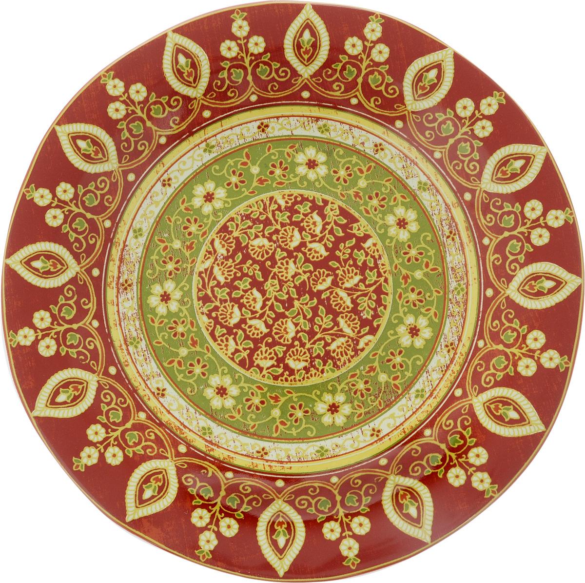 """Обеденная тарелка Sango Ceramics """"Кашмир"""", изготовленная из высококачественной керамики, имеет изысканный внешний вид. Она идеально подходит для красивой сервировки стола. Изделие прекрасно впишется в интерьер вашей кухни и станет достойным дополнением к кухонному инвентарю. Тарелка Sango Ceramics """"Кашмир"""" подчеркнет прекрасный вкус хозяйки и станет отличным подарком. Можно мыть в посудомоечной машине и использовать в микроволновой печи.  Диаметр тарелки (по верхнему краю): 27 см.Высота тарелки: 3 см."""