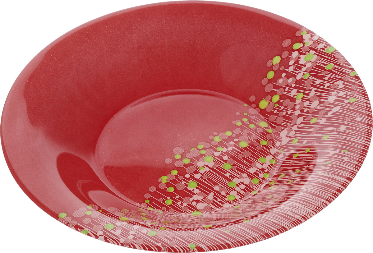 Тарелка суповая Luminarc FlowerFields Anis, цвет: красный, зеленый, диаметр 21 см тарелка суповая luminarc freesia 22 22 см