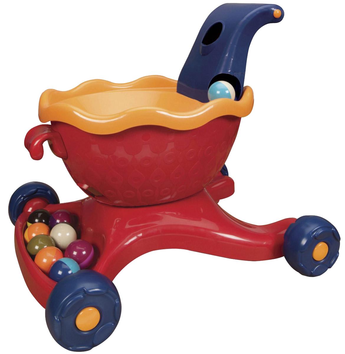 B.Dot Каталка-ходунки с шариками Walkness Monster цвет красный -  Ходунки, прыгунки, качалки
