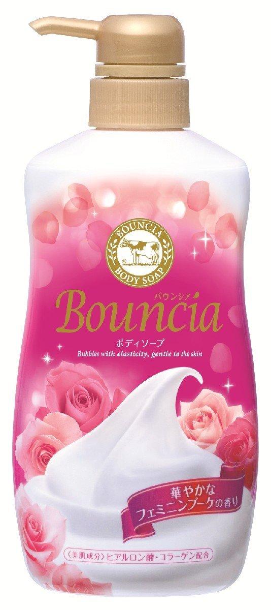 COW 00594 Увлажняющее мыло для тела со сливками, коллагеном и ароматом цветов Milky Body soap Bouncia cow milky body soap bouncia мыло для тела увлажняющее со сливками и коллагеном 430 мл