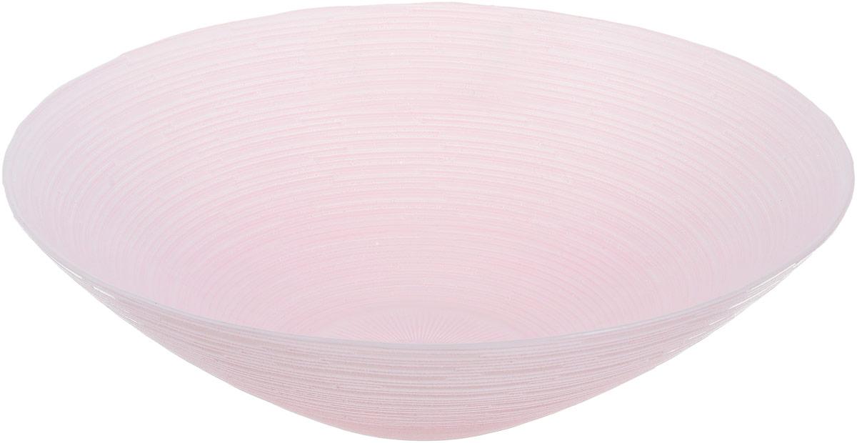 Миска NiNaGlass Риски, цвет: розовый, диаметр 25,5 см83-012-Ф25 Р-РОЗМиска NiNaGlass Риски выполнена из высококачественного стекла и имеет рельефную поверхность. Она прекрасно впишется в интерьер вашей кухни и станет достойным дополнением к кухонному инвентарю. Не рекомендуется использовать в микроволновой печи и мыть в посудомоечной машине.Диаметр миски: 25,5 см.Высота стенки: 7,5 см.