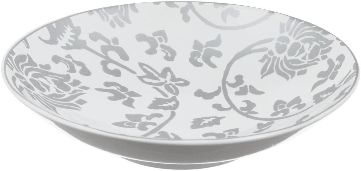 Тарелка глубокая Sango Ceramics Джапан Деним Сильвер, диаметр 23,5 смUTJDS67840Глубокая тарелка Sango Ceramics Джапан Деним Сильвер изготовлена из высококачественной керамики. Она украшена цветочным рисунком. Такая тарелка сочетает в себе изысканный дизайн с максимальной функциональностью. Тарелка прекрасно впишется в интерьер вашей кухни и станет достойным подарком к любому празднику.Диаметр тарелки (по верхнему краю): 23,5 см.Высота тарелки: 4,5 см.