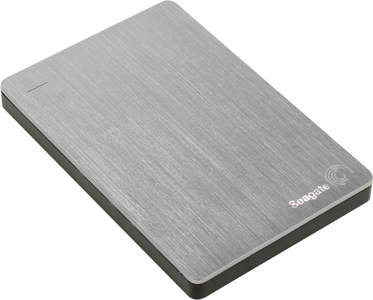 Seagate Backup Plus Portable Slim 2TB USB3.0, Silver (STDR2000201) внешний жесткий диск