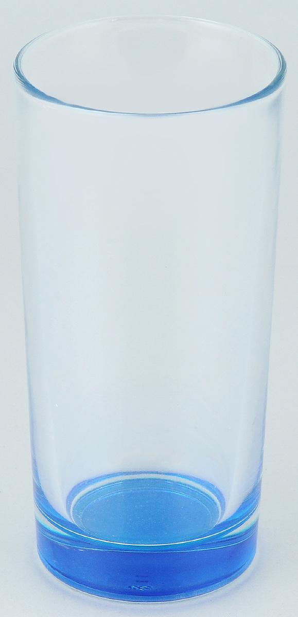 """Высокий стакан ОСЗ """"Лак"""" изготовлен из высококачественного стекла, которое изысканно блестит и переливается на свету. Дно стакана окрашено. Стакан прозрачный, но при его наклоне создается оптическая иллюзия того, что и сам стакан окрашен. Такой стакан отлично дополнит вашу коллекцию кухонной утвари и порадует вас ярким необычным дизайном и практичностью. Диаметр стакана: 7 см. Высота стакана: 14 см."""