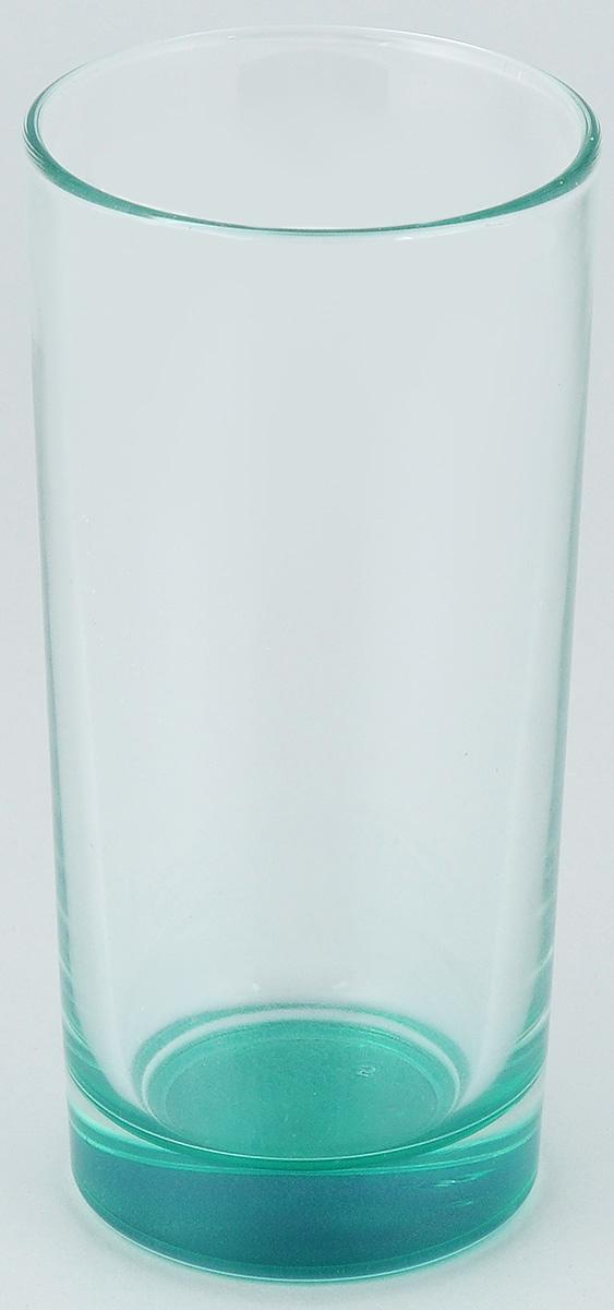 Стакан ОСЗ Лак, цвет: бирюзовый, 280 мл03с1018 ДЗ_бирюзовыйВысокий стакан ОСЗ Лак изготовлен из высококачественного стекла, которое изысканно блестит и переливается на свету. Дно стакана окрашено. Стакан прозрачный, но при его наклоне создается оптическая иллюзия того, что и сам стакан окрашен. Такой стакан отлично дополнит вашу коллекцию кухонной утвари и порадует вас ярким необычным дизайном и практичностью. Диаметр стакана: 7 см. Высота стакана: 14 см.
