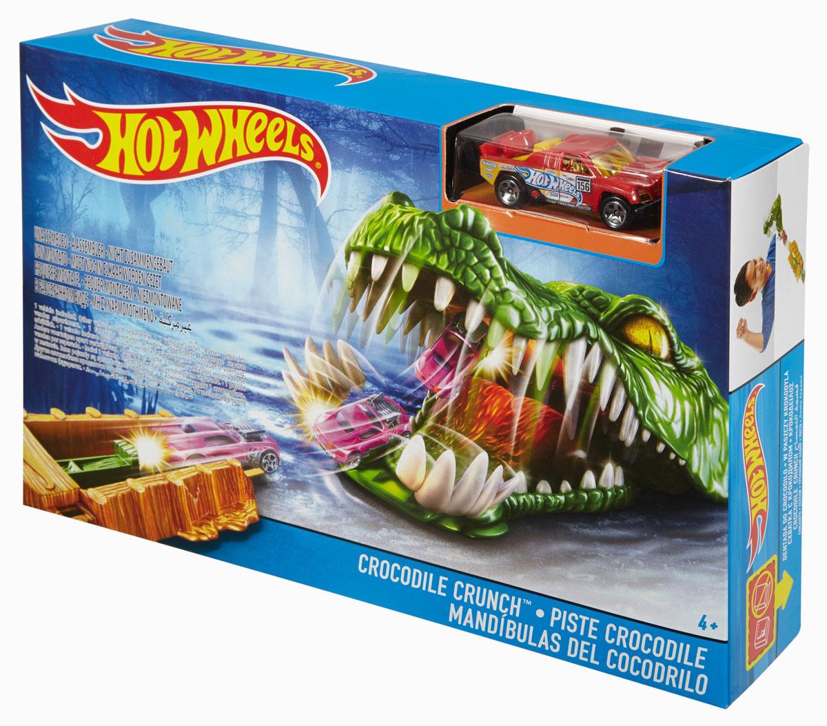 Hot Wheels Игрушечный трек Схватка с крокодилом hot wheels игрушечный трек робот крушитель