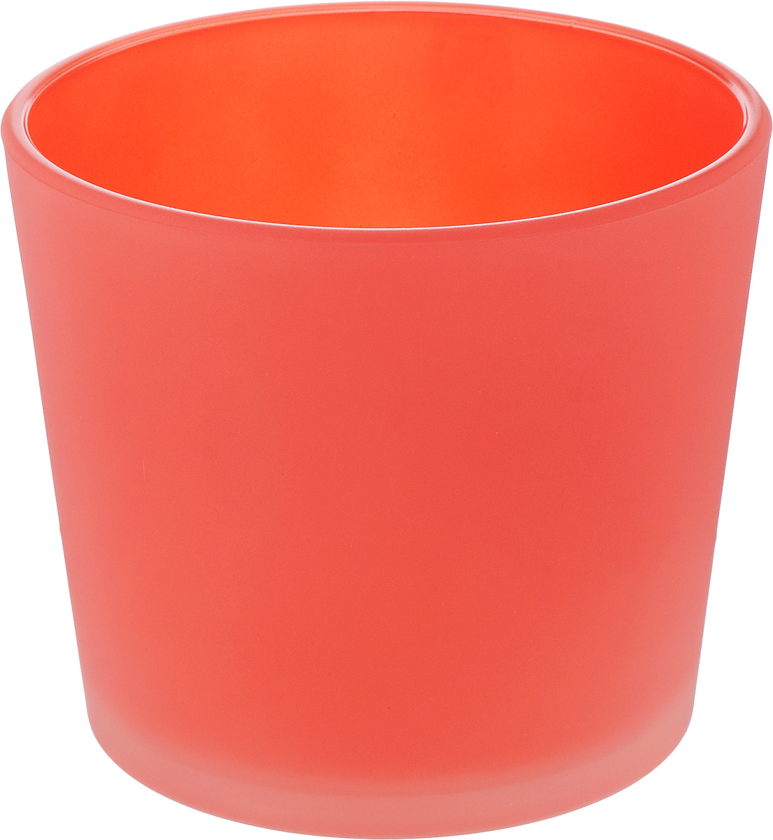 Кашпо NiNaGlass, цвет: коралловый, высота 12 см ваза ninaglass дана цвет шоколад высота 16 см