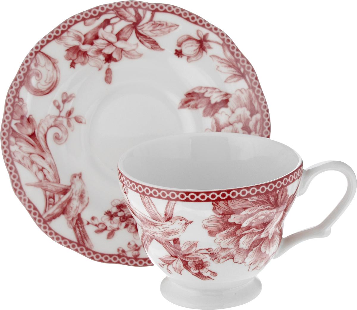 Чайная пара Sango Ceramics Аделаида Бордо, 2 предметаUTAB97301/2Чайная пара Sango Ceramics Аделаида Бордо состоит из расписной чашки и блюдца, изготовленных из экологически чистой керамики. Керамика - исключительно термостойкий, экологически чистый материал, сохраняющий все натуральные свойства воды и ее природный вкус, обладающий низкой теплопроводностью - напиток дольше остается горячим.Чайная пара Sango Ceramics Аделаида Бордо станет отличным подарком для любителей чая и ценителей расписной посуды из качественных природных материалов.Яркий дизайн изделий, несомненно, придется вам по вкусу.Изделия можно мыть в посудомоечной машине и использовать в микроволной печи. Объем чашки: 200 мл.Диаметр чашки (по верхнему краю): 9,5 см.Высота чашки: 7,5 см.Диаметр блюдца: 15 см.Высота блюдца: 2,5 см.